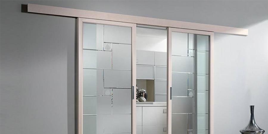 Vetro - Porte interne in vetro scorrevoli ...